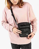 """Мужская сумка мессенджер """"MINI"""" матовый,черный, на 2л,износостойкий,повседневный, спортивный, экокожа, Harvest, фото 2"""
