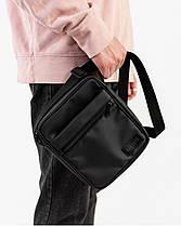 """Мужская сумка мессенджер """"MINI"""" матовый,черный, на 2л,износостойкий,повседневный, спортивный, экокожа, Harvest, фото 3"""