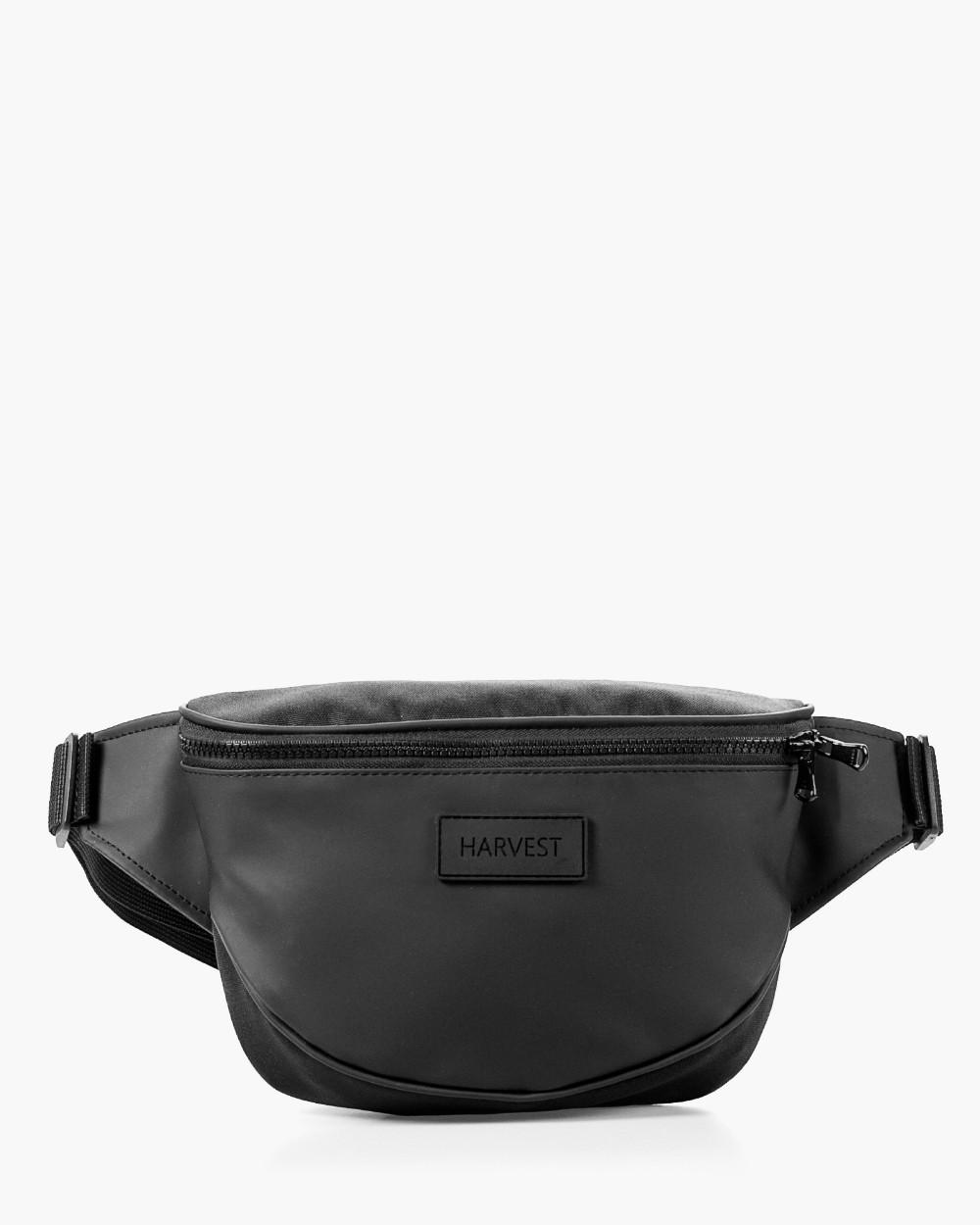 """Поясная сумка """"FLIGHT"""" черная, на 3л, бананка, унисекс, износостойкая, повседневная, спортивная, экокожа, Harv"""