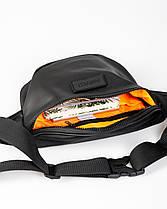 """Поясная сумка """"FLIGHT"""" черная, на 3л, бананка, унисекс, износостойкая, повседневная, спортивная, экокожа, Harv, фото 3"""