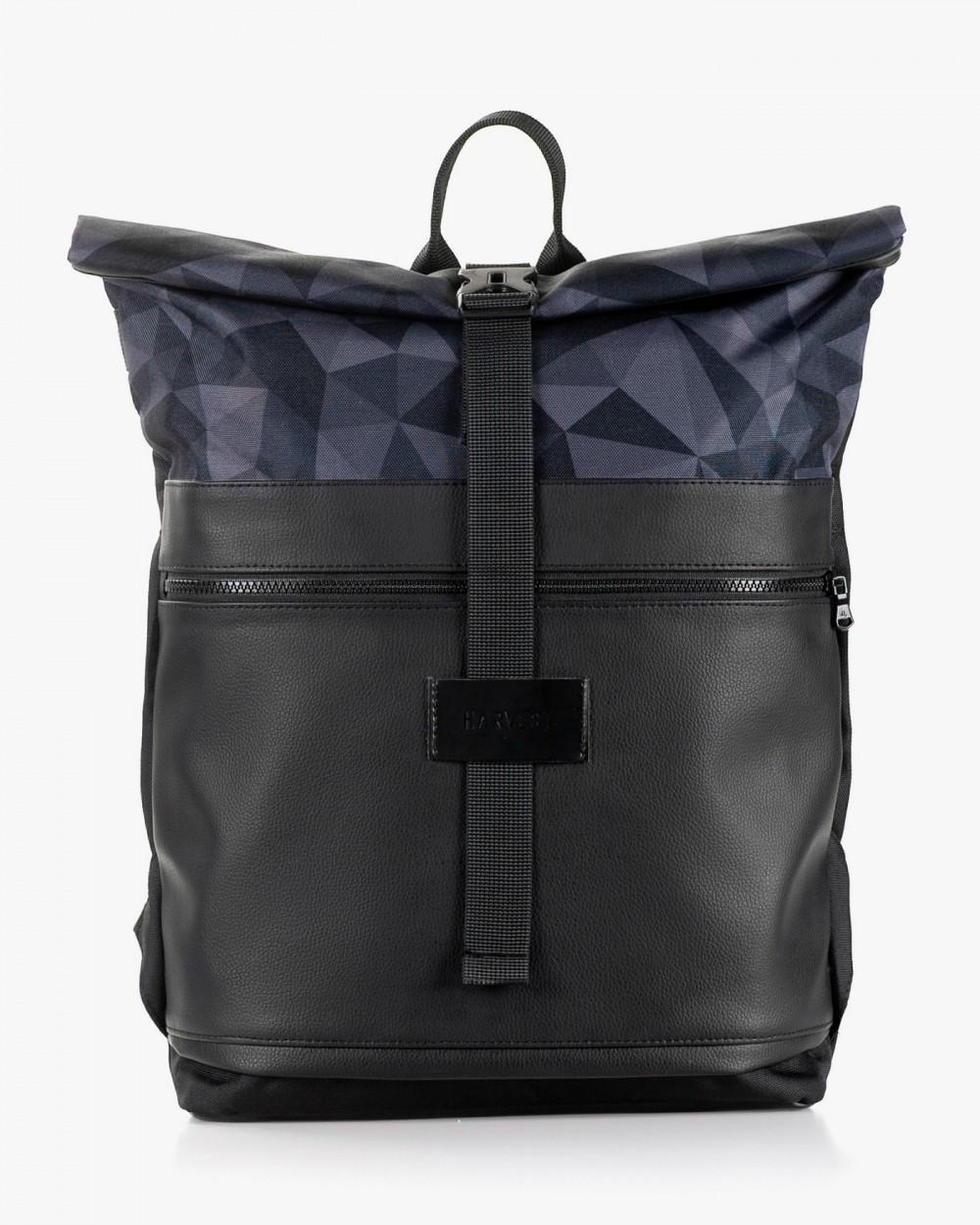 """Мужской рюкзак """"ROLLTOP"""" принт, черный, на 21л,сумка для ноутбука, повседневный, спортивный, для путешествия"""