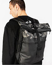 """Мужской рюкзак """"ROLLTOP"""" принт, черный, на 21л,сумка для ноутбука, повседневный, спортивный, для путешествия, фото 3"""