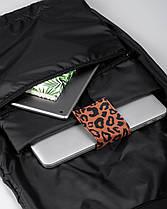 """Женский рюкзак """"ROLLTOP"""" принт, леопард, коричневый, на 21л,сумка для ноутбука, водоотталкивающий,повседневный, фото 3"""