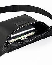 """Поясная сумка """"STONE"""" нубук, черная, на 3л, унисекс, повседневный, спортивный, экокожа, Harvest, фото 3"""