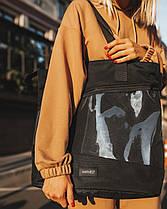 """Женская городская сумка """"training bag large"""" черная , на 24л, водоотталкивающий, повседневная, фото 2"""