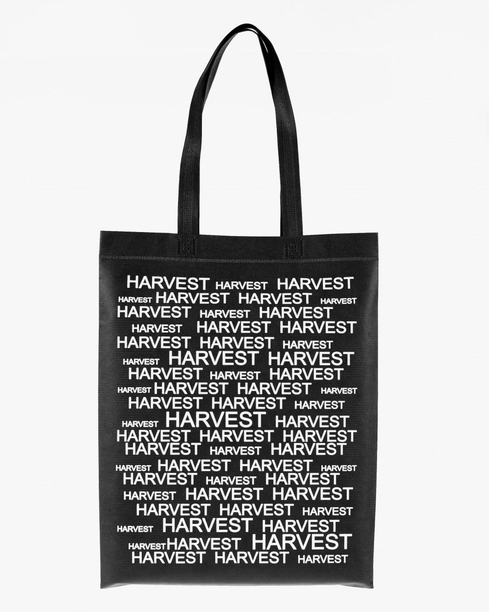 """Объемная сумка типа """"BOX"""" ECOBAG, черная с принтом, до 16 кг, унисекс, повседневная, спортивная"""