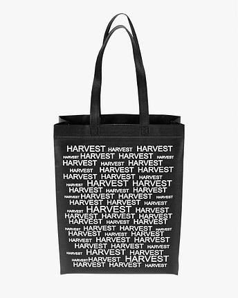 """Объемная сумка типа """"BOX"""" ECOBAG, черная с принтом, до 16 кг, унисекс, повседневная, спортивная, фото 2"""