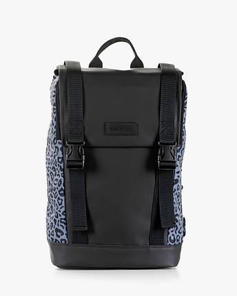 """Женский рюкзак """"AVIAPACK"""" принт леопард, серый, черный, на 17л, сумка для ноутбука, повседневный, спортивный, фото 2"""