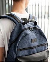 """Мужской рюкзак """"ORDINARY """" синий, черный, на 21л, сумка для ноутбука, спортивный, повседневный,для путешествий, фото 2"""
