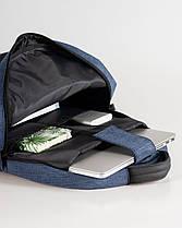 """Мужской рюкзак """"ORDINARY """" синий, черный, на 21л, сумка для ноутбука, спортивный, повседневный,для путешествий, фото 3"""