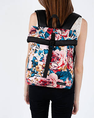 """Женский рюкзак """"ROLL MINI"""" на 18л, принт пинк флорал, полиэстер, сумка для нетбука или планшета, повседневный, фото 2"""