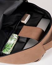 """Прочный мужской рюкзак """"TIPOLEATHER"""" на 17л, спортивний городской для путешествий, сумка для ноутбука, Винтаж, фото 3"""
