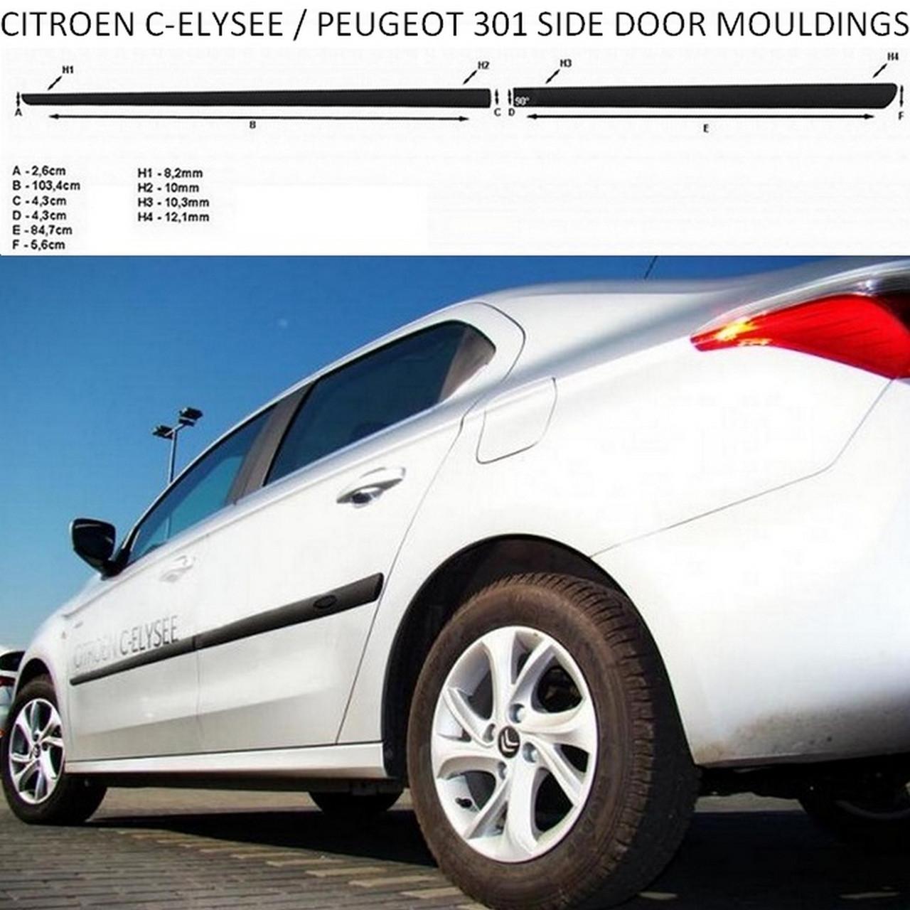 Молдинги на двері для Citroen C-Elysee 2012-2020