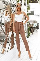 """Укороченные женские брюки """"Асдис"""" с завышенной талией и поясом (3 цвета), фото 2"""
