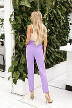 """Укороченные женские брюки """"Асдис"""" с завышенной талией и поясом (3 цвета), фото 3"""