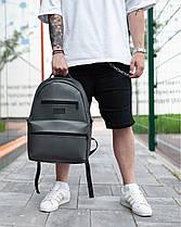 """Прочный мужской рюкзак """"TIPOLEATHER"""" на 17л, спортивний городской для путешествий, сумка для ноутбука, Серый, фото 2"""