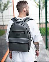 """Прочный мужской рюкзак """"TIPOLEATHER"""" на 17л, спортивний городской для путешествий, сумка для ноутбука, Серый, фото 3"""