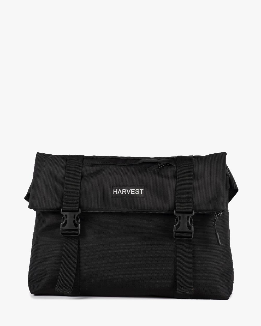 """Мужская сумка мессенджер """"ROLL"""" черная, на 9л, сумка для ноутбука, повседневный, спортивный"""