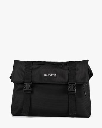 """Мужская сумка мессенджер """"ROLL"""" черная, на 9л, сумка для ноутбука, повседневный, спортивный, фото 2"""