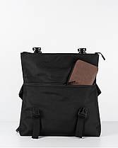 """Мужская сумка мессенджер """"ROLL"""" черная, на 9л, сумка для ноутбука, повседневный, спортивный, фото 3"""