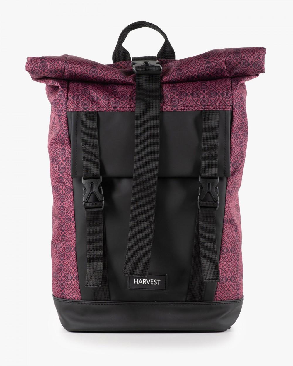"""Рюкзак """"AVIAROLLTOP"""" принт орнамент, бордо, на 17л, сумка для ноутбука, унисекс, повседневный, спортивный"""