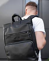 """Прочный мужской рюкзак на 18 """"SOLVER 2"""", городской спортивний для путешествий, сумка для ноутбука, Чёрный, фото 2"""