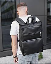 """Прочный мужской рюкзак на 18 """"SOLVER 2"""", городской спортивний для путешествий, сумка для ноутбука, Чёрный, фото 3"""