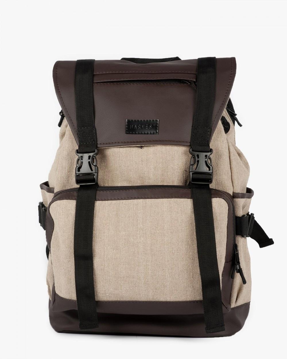 """Рюкзак """"UNIVERSAL"""" лён, коричневый, на 22л, сумка для ноутбука, водостойкий, унисекс, повседневный, спортивный"""