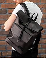 """Мужской рюкзак """"ROLLTOP 2"""" на 27л, спортивний городской роллтоп для путешествий, сумка для ноутбука, Бронза"""