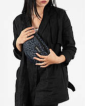 """Женская поясная сумка """"BG""""  принт леопард, серый, на 2л, бананка, повседневная, спортивная, экокожа, Harvest, фото 2"""