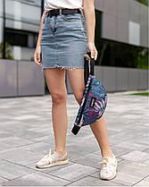 """Женская поясная сумка """"BG"""" принт тропик, бордо, на 2л, бананка, повседневная, спортивная, экокожа, Harvest, фото 3"""
