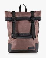 """Прочный мужской рюкзак """"ROLL"""" меланж, браун,на 19л, сумка для ноутбука,спортивный,для путешествий,повседневный"""