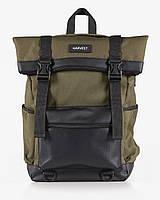 """Прочный мужской рюкзак """"ROLL 3"""" на 26л, спортивний городской роллтоп для путешествий, сумка для ноутбука, Хаки"""