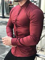 Рубашка мужская приталенная CL x burgundy ТОП качества, фото 1