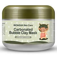 Очищающая пузырьковая маска для лица Bioaqua Skin Care Carbonated Bubble Clay Mask (100г)adw
