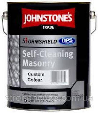 Johnstone's Stormshield Self- Cleaning Masonry 10л Краска для наружных робот Джонстоун Стормшилд Селф Клининг