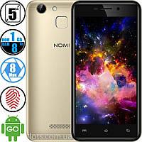 Смартфон Nomi i5014 (1/8Gb) Gold - Cканером отпечатков