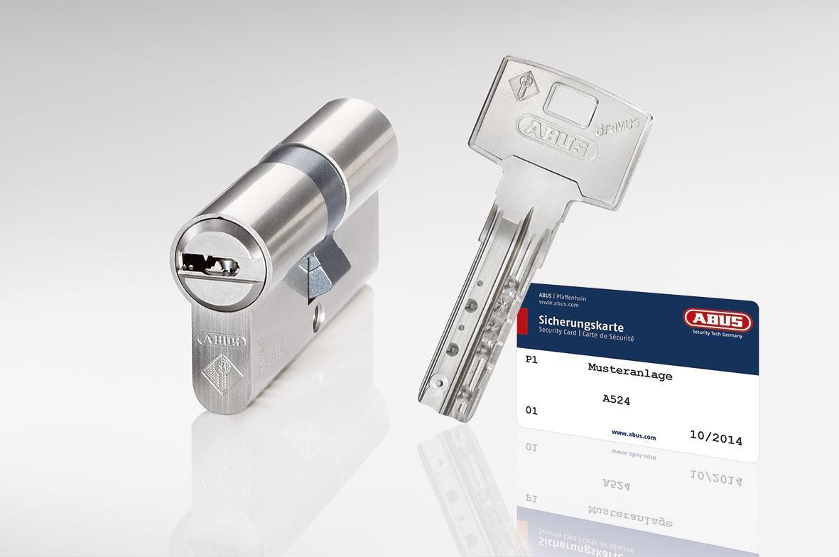 Цилиндр Abus Bravus 4000 Сompact 115 мм (55х60) ключ-ключ