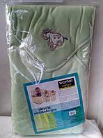 Многофункциональный оригинальный конверт-одеяло 3 в 1 салатовый Womar (Zaffiro) Польша)