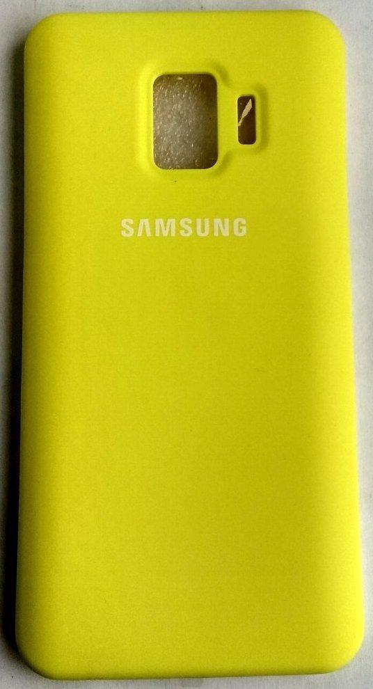 """Силиконовый чехол """"Оригинал Велюр"""" Samsung J260 / J2 Core yellow"""