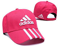 Яркая малиновая летняя бейсболка Adidas на липучке (реплика)