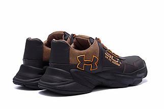 Мужские кожаные кеды в стиле Under Armour UA SC 3 Zero черные, фото 3