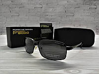 Мужские Солнцезащитные Очки Porsche Design Качественные Очки Порше Дизайн Мужские Черные Очки