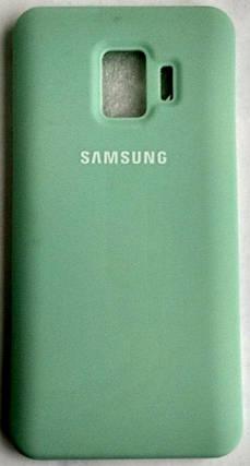 """Силіконовий чохол """"Оригінал Велюр"""" Samsung J260/J2 Core бірюза, фото 2"""