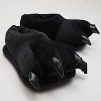Мягкие тапочки кигуруми черные лапы