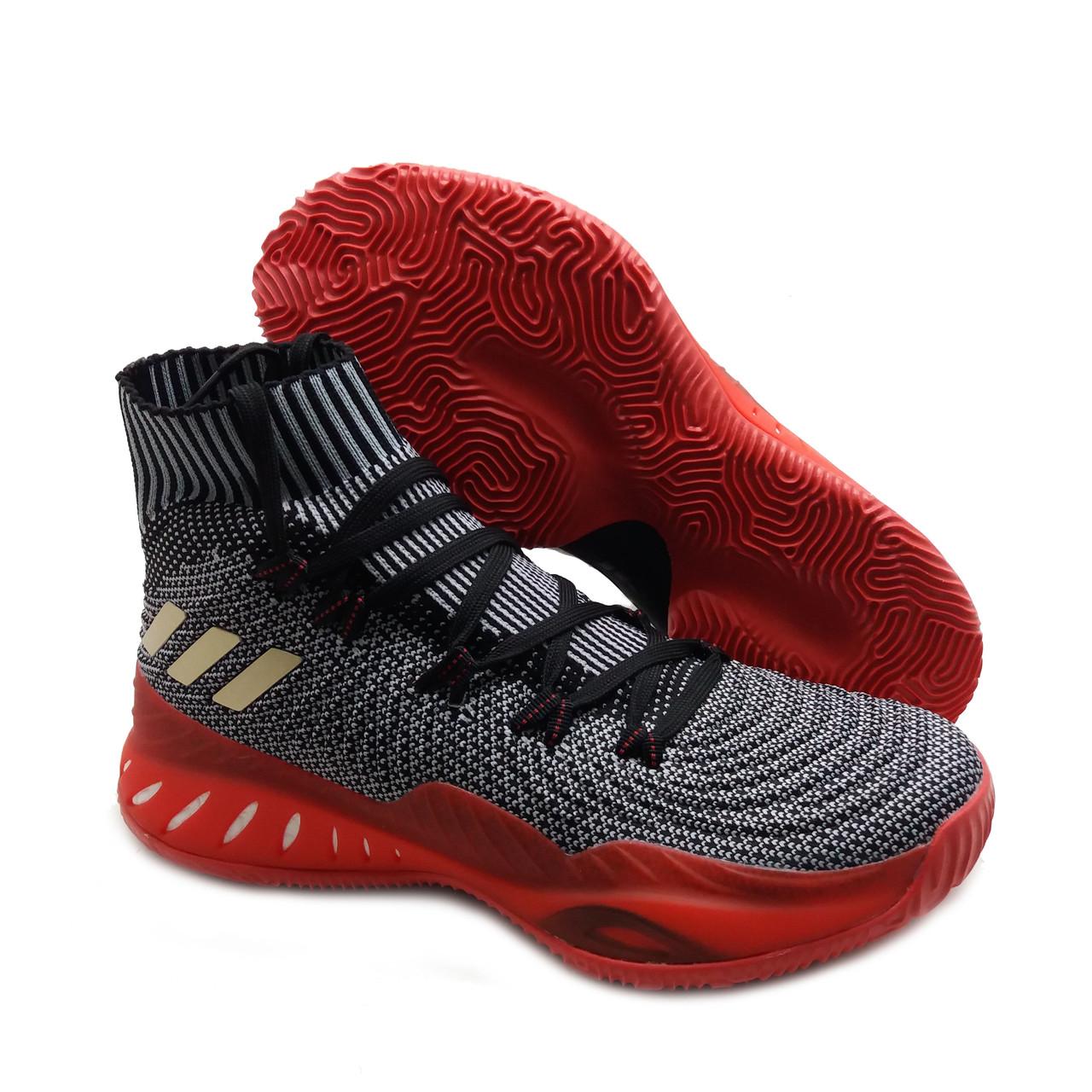 Мужские баскетбольные кроссовки Adidas Crazy Explosive Серо-красный