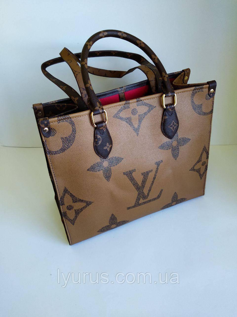Сумка женская вместительная Louis Vuitton Onthego Monogram  шопер