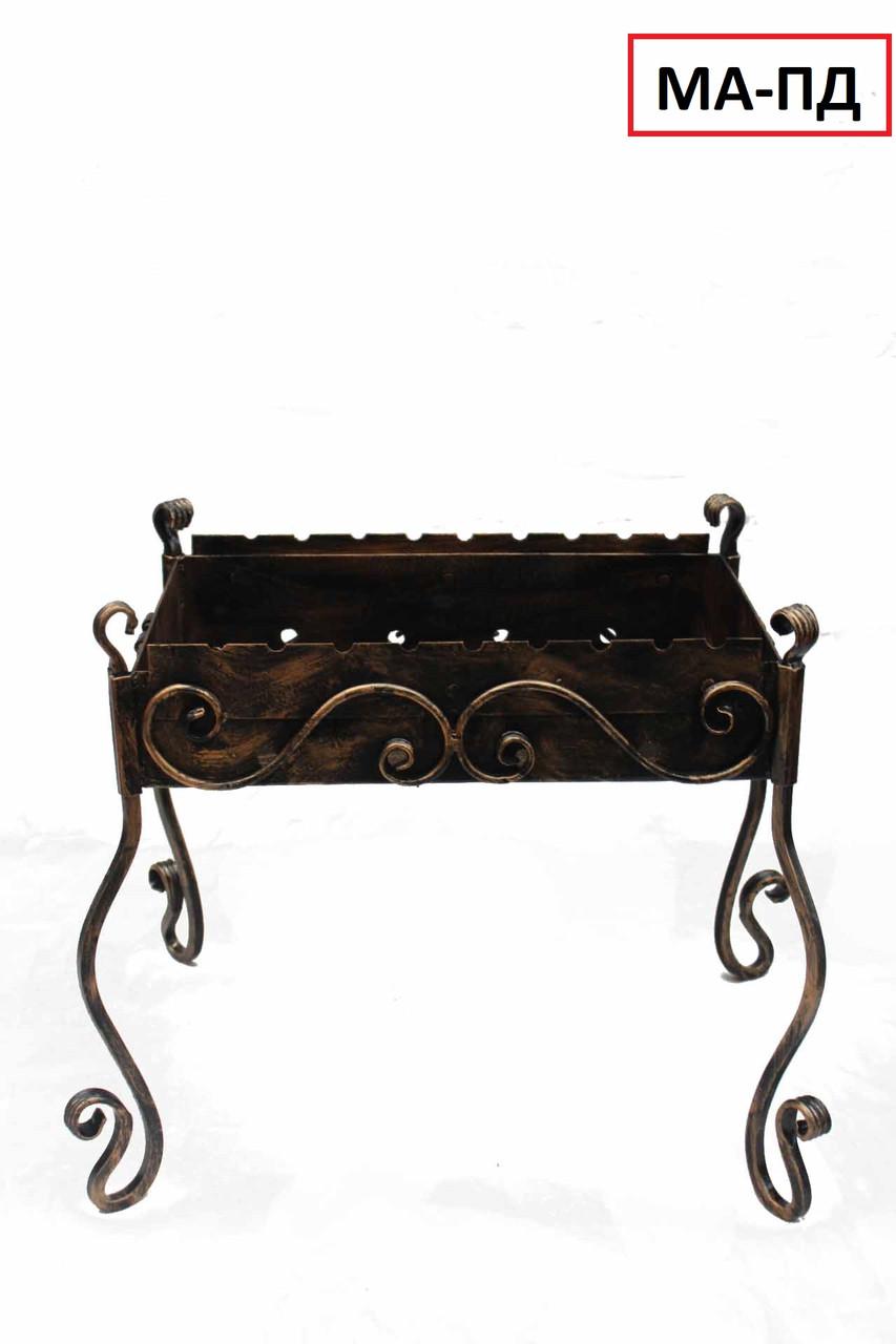 Мангал кованый разборной на 10 шампуров, сталь 3 мм
