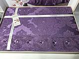 Жаккардовое покрывало 240*260 с наволочками Gardine's Diana  murdum, фото 3