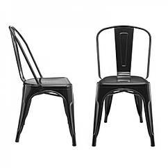 Стілець Толікс, метал, матовий чорний, штабельований. Стільці для кафе і барів